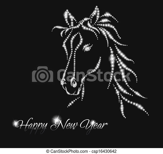 EPS Vector of Horse. Happy new year 2014. Vector eps 10 ...