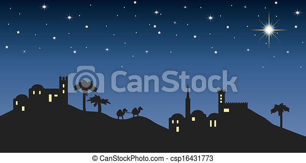 background night bethlehem - csp16431773
