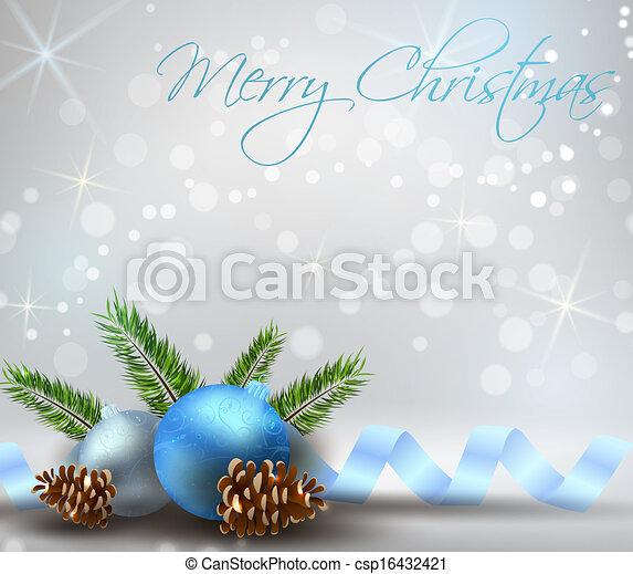 vektor illustration von weihnachten licht hintergrund blaues dekorationen csp16432421. Black Bedroom Furniture Sets. Home Design Ideas