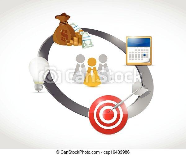 business on the move diagram illustration design - csp16433986