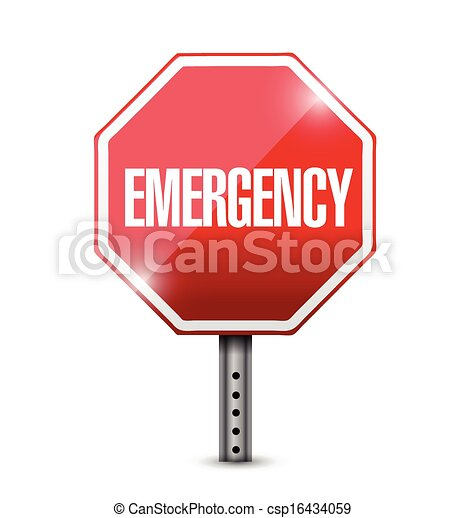 emergency stop sign illustration design - csp16434059