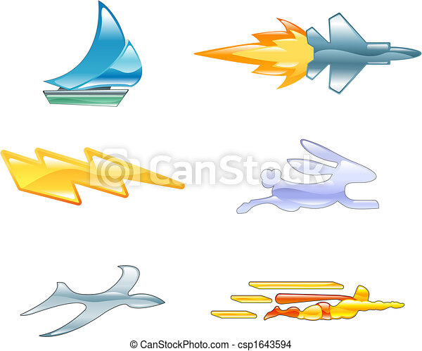 Speed Icon Set Series Design Elements - csp1643594