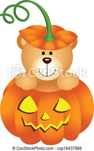 Halloween Teddy Bear Clipart