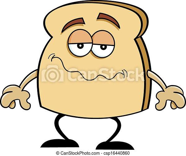 Bread Slice Drawing Cartoon Slice of Bread