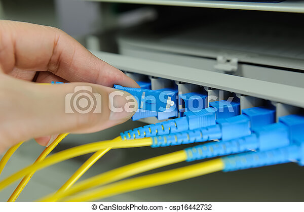Data transfer by optical fibre information technology. - csp16442732