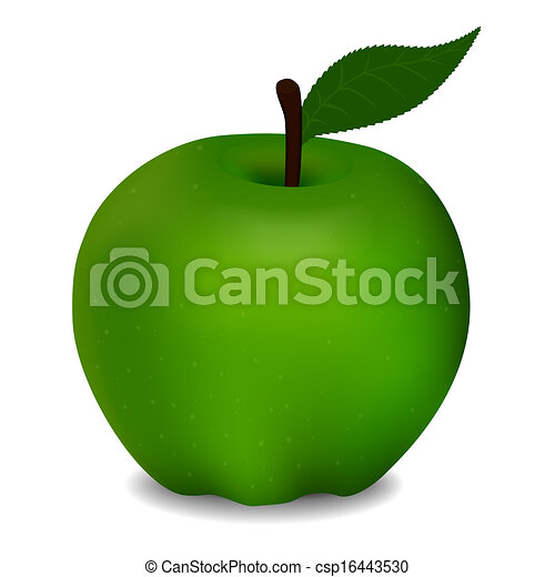 delicious green apple illustration - photo #3