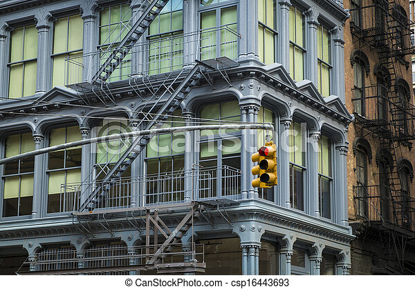 Historic buildings in New York City's Soho District - csp16443693