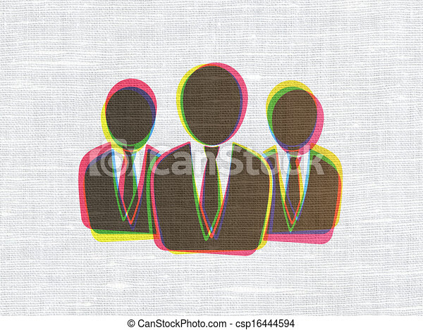 Law concept: Business People on fabric texture background - csp16444594