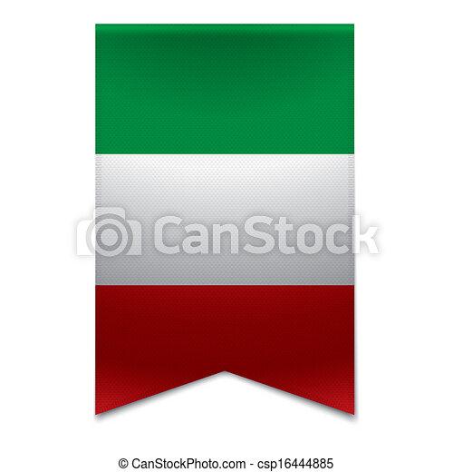 Ribbon banner - italian flag - csp16444885