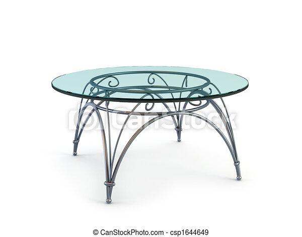 현대, 커피, 유리, 테이블 - 현대, 유리, 테이블, 3차원, 지방의 ...
