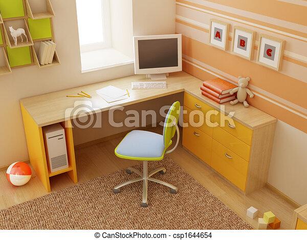 children's room interior - csp1644654