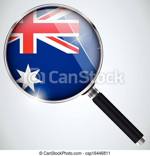 NSA USA Government Spy Program Country Australia - csp16446811