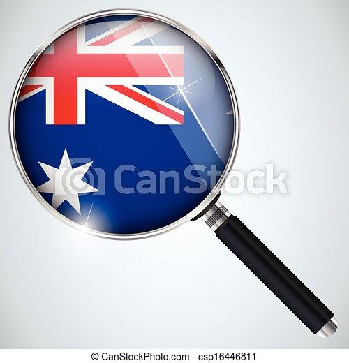 NSA USA Government Spy Program Country Australia - csp16446811