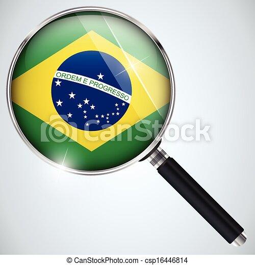 NSA USA Government Spy Program Country Brazil - csp16446814