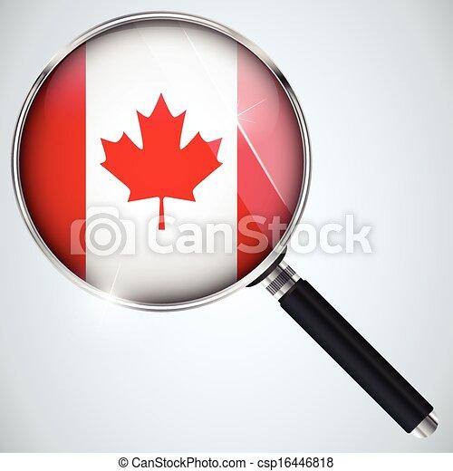 NSA USA Government Spy Program Country Canada - csp16446818