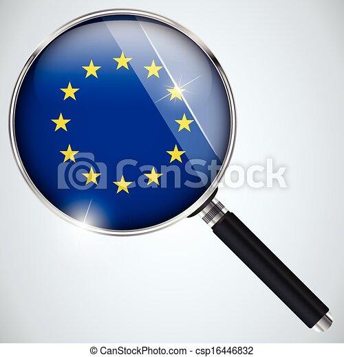 NSA USA Government Spy Program Country Europe - csp16446832