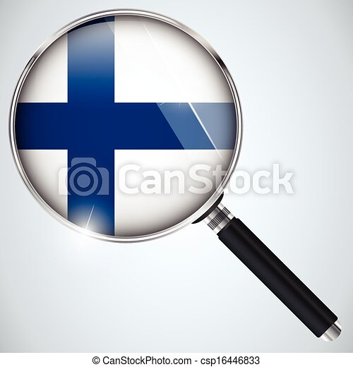 NSA USA Government Spy Program Country Finland - csp16446833