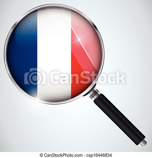 NSA USA Government Spy Program Country France - csp16446834