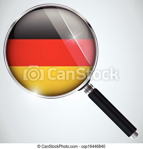 NSA USA Government Spy Program Country Germany - csp16446840