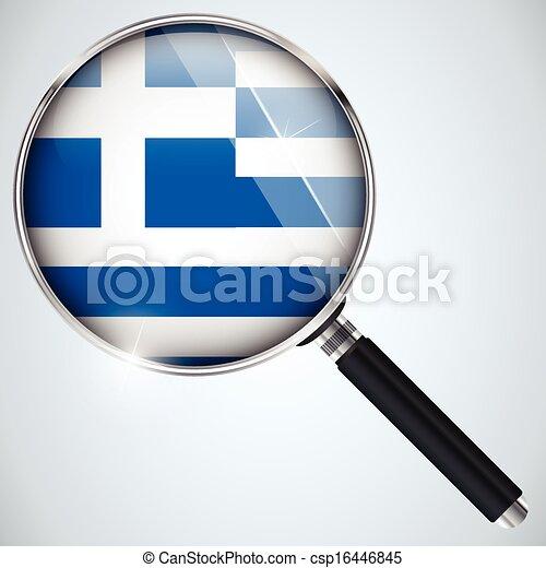 NSA USA Government Spy Program Country Greece - csp16446845