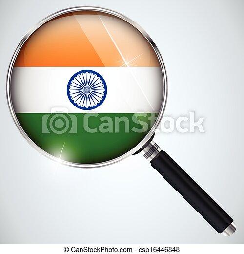 NSA USA Government Spy Program Country India - csp16446848