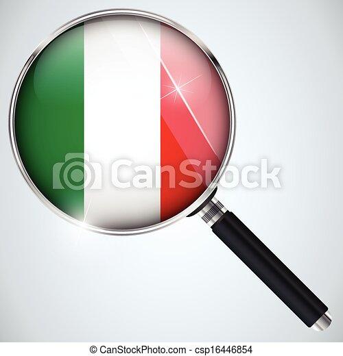 NSA USA Government Spy Program Country Italy - csp16446854