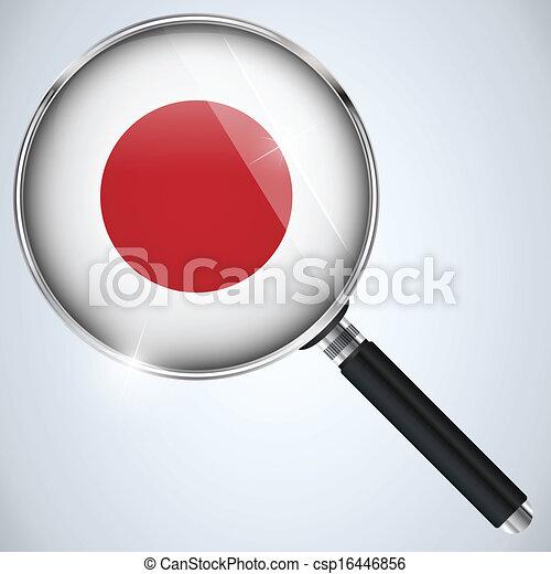 NSA USA Government Spy Program Country Japan - csp16446856