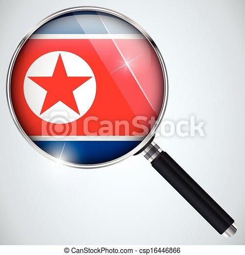 NSA USA Government Spy Program Country North Korea - csp16446866