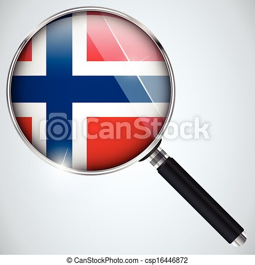 NSA USA Government Spy Program Country Norway - csp16446872