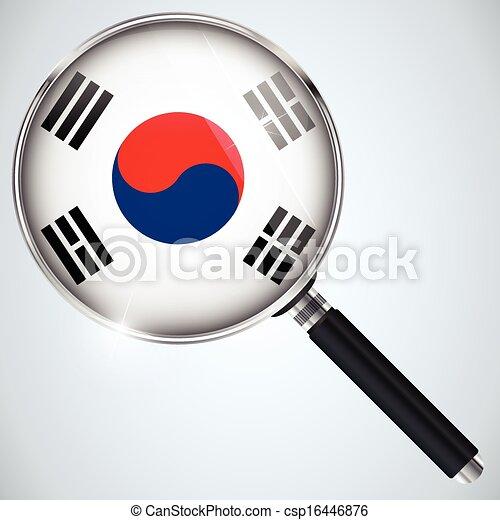 NSA USA Government Spy Program Country South Korea - csp16446876