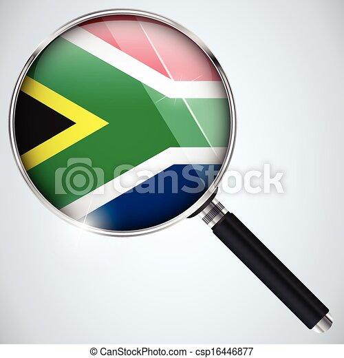 NSA USA Government Spy Program Country South Africa - csp16446877