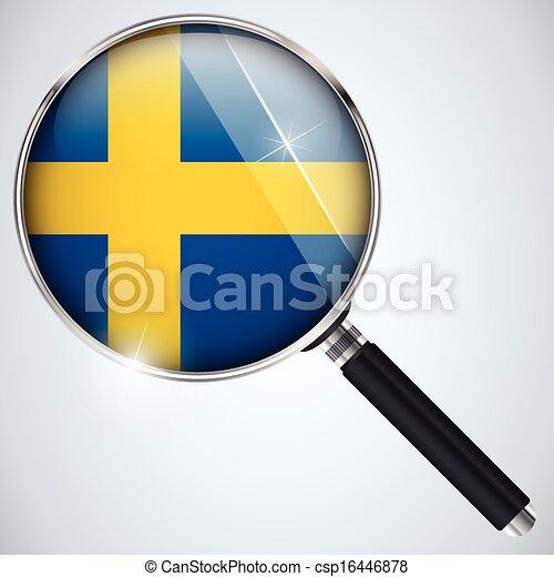 NSA USA Government Spy Program Country Sweden - csp16446878
