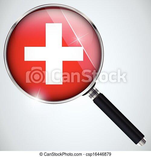 NSA USA Government Spy Program Country Switzerland - csp16446879