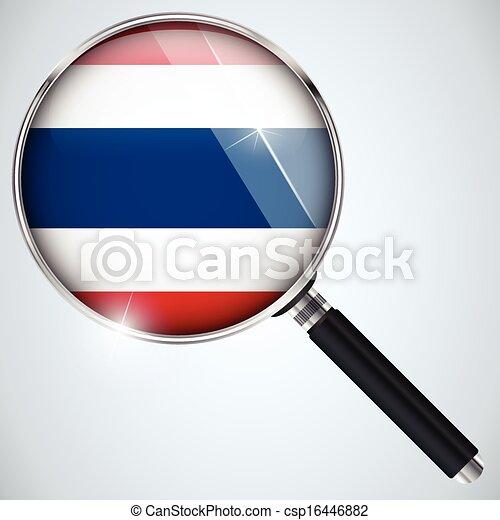 NSA USA Government Spy Program Country Thailand - csp16446882