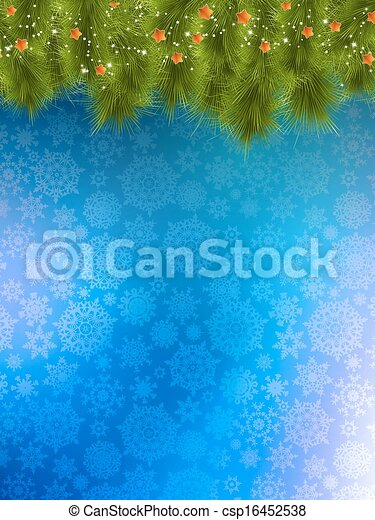 Christmas background with tree. - csp16452538