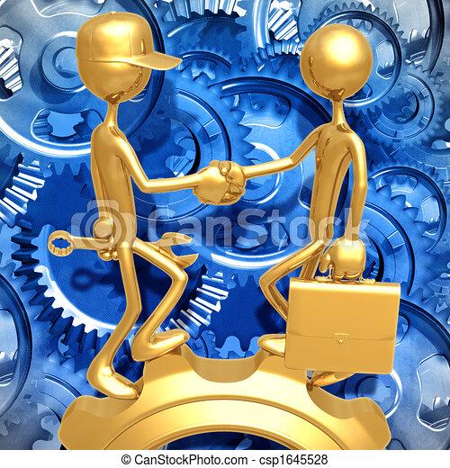 Labor Agreement Gear - csp1645528