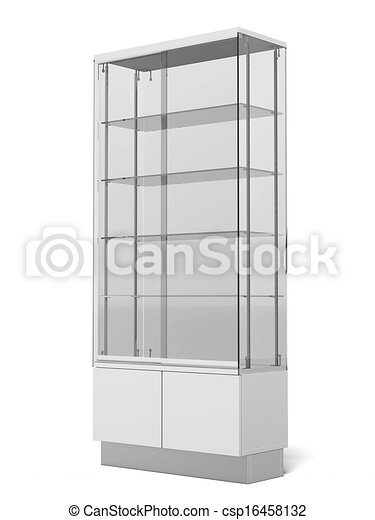 Transparent Retail Store Shelves - csp16458132