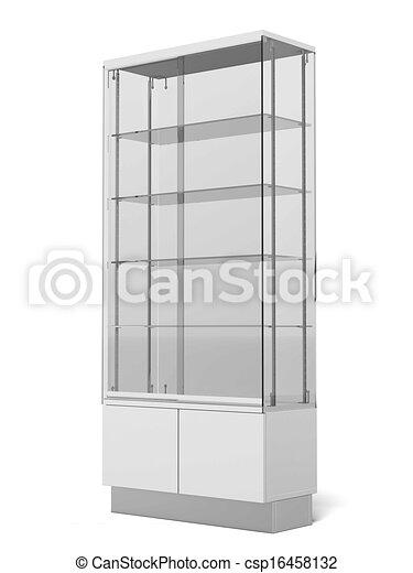 Transparent Retail Store Shelves - csp16458132