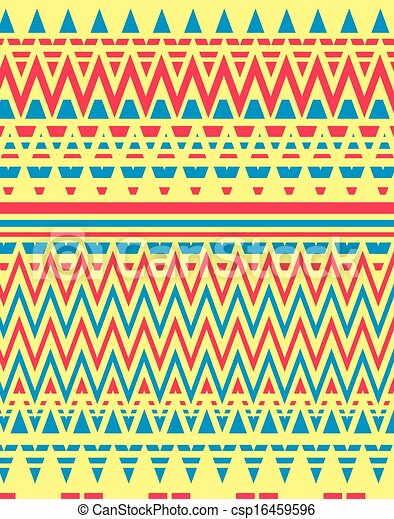 geometric ethnic design vector art - csp16459596