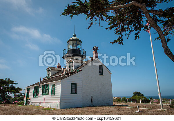Point Pinos Historic Lighthouse in Monterey California - csp16459621