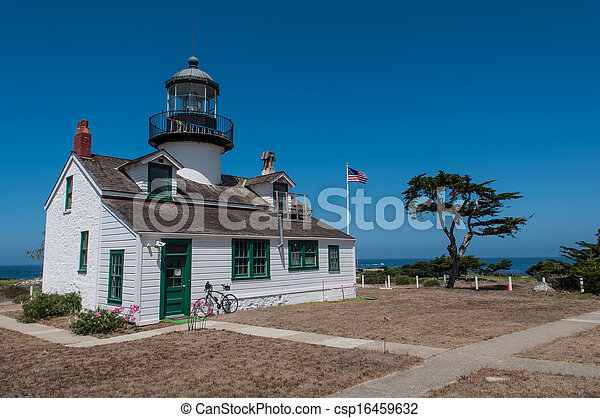 Point Pinos Historic Lighthouse in Monterey California - csp16459632