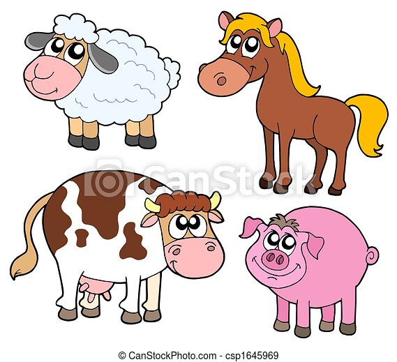 Farm animals collection - csp1645969