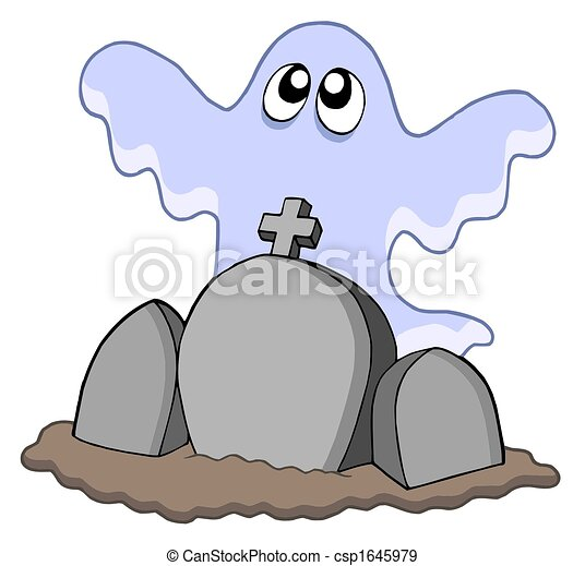 Ghost with graves - csp1645979
