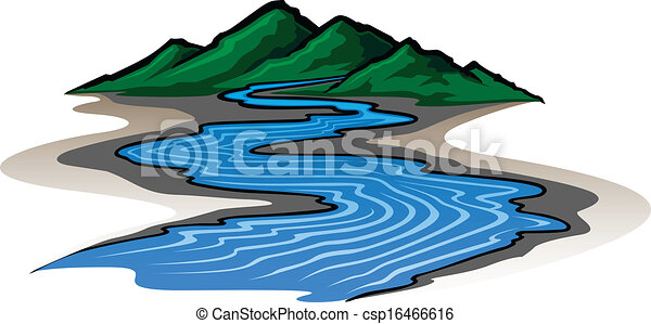 Rivers Mountains Mountains And River Clipart