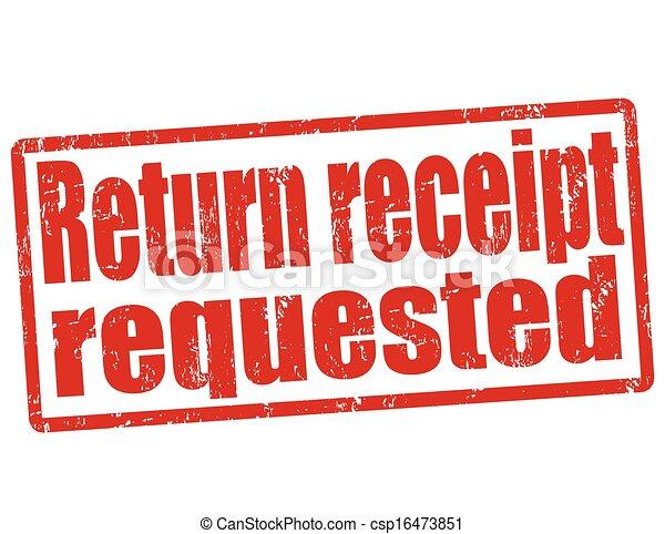 return receipt deutsch