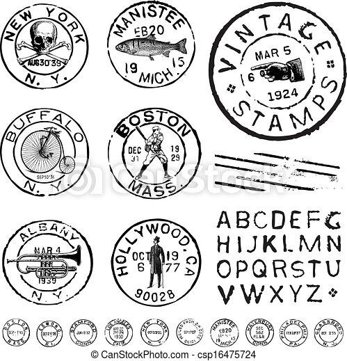 Vintage Illustrations Vector Vector Clipart Vintage Stamp