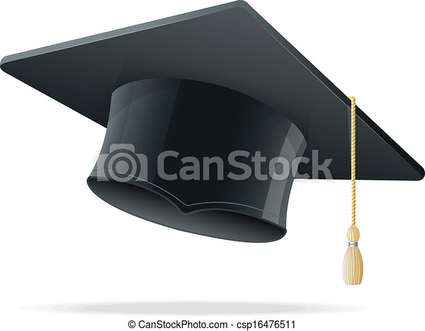 Education Cup on White. Graduation Cap. - csp16476511