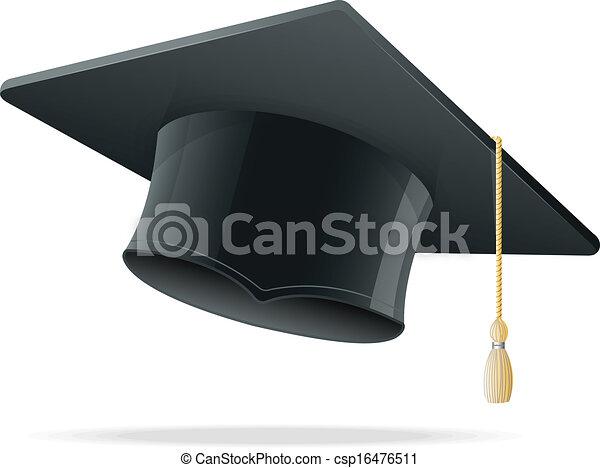 Education Cup on White. Graduation Cap. - csp16476511