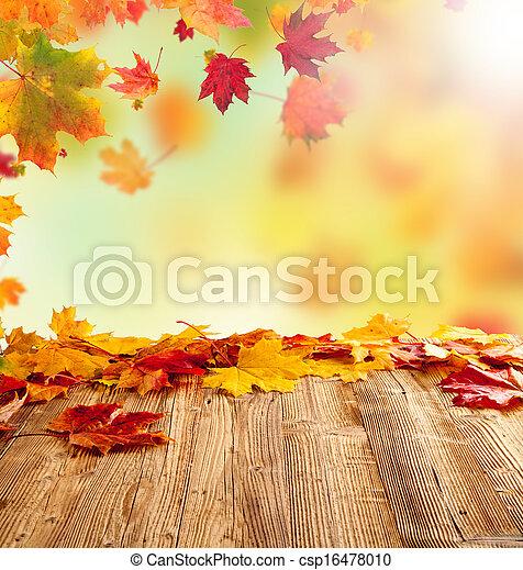 otoño, hojas - csp16478010