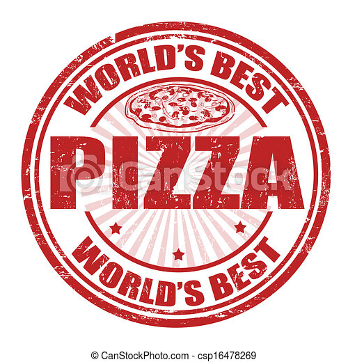 Vector - Pizza stamp - stock illustration, royalty free illustrations ...